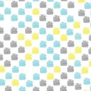 Painted Grid (Aqua Yellow Gray)