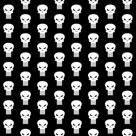 Tiny Punish skulls fabric by triclyops on Spoonflower - custom fabric
