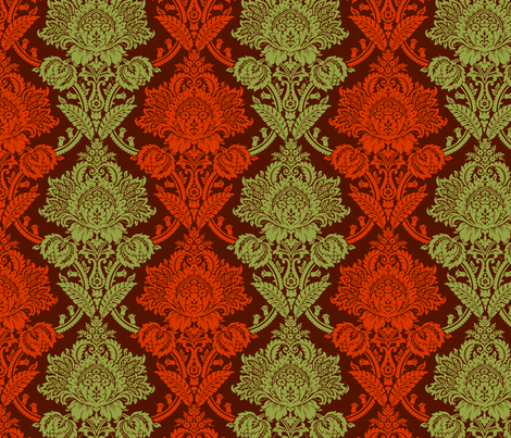 Rococo Damask 3d fabric by muhlenkott on Spoonflower - custom fabric