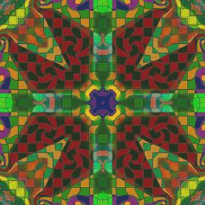 checkerboard_kaleidoscoped_green_rust_yellow_purple