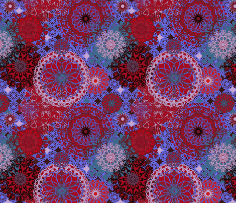 Spirals - jewel tones fabric by designed_by_debby on Spoonflower - custom fabric