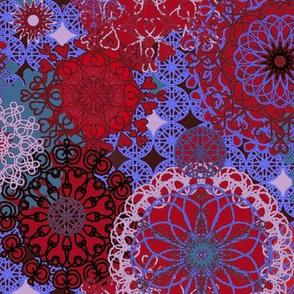 Spirals - jewel tones