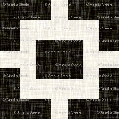 Squared Plus in Black Linen