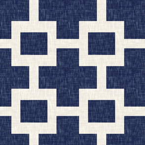 Squared Plus in Navy Linen