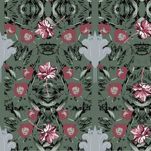 pelargoniums, green