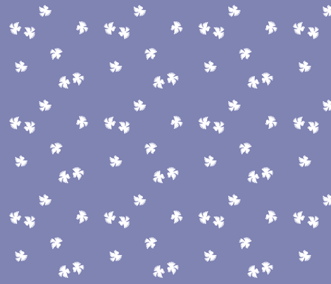 little_doves_lavender fabric by eloise_varin on Spoonflower - custom fabric