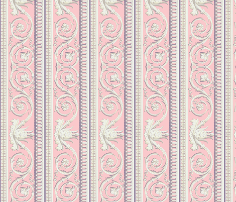 Louis XVI Border ~ Dauphine  fabric by peacoquettedesigns on Spoonflower - custom fabric
