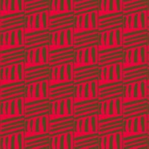 Woven Mats Red