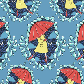 splish splash umbrella print