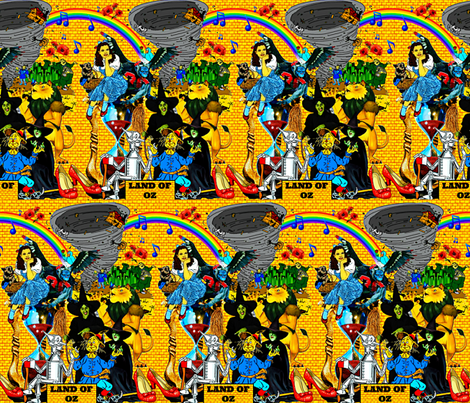 The Land Of Oz fabric by whimzwhirled on Spoonflower - custom fabric