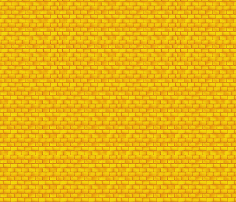 Yellow Brick Road fabric by whimzwhirled on Spoonflower - custom fabric
