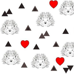hearts and hedgehogs
