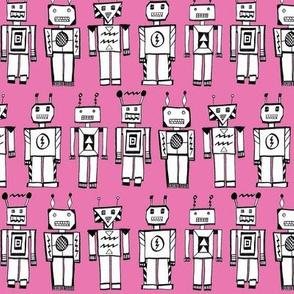 retrobots pink