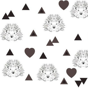 hearts and hedgehogs brown