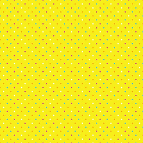 Yellow Mini Dot Sugar Skull Coordinate
