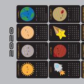 2020 Tea Towel Calendar - Say Hello to the Solar System