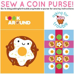 Kawaii Donut Coin Purse - Cut & Sew Pattern