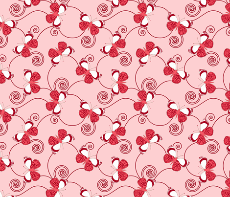 gueth_butterfly_red fabric by juditgueth on Spoonflower - custom fabric