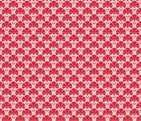 gueth_carnations_red fabric by juditgueth on Spoonflower - custom fabric
