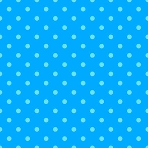 Blue on Blue Polka Dot