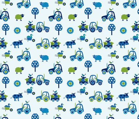 gueth_farm_large_green fabric by juditgueth on Spoonflower - custom fabric