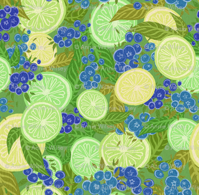Limes and Blueberries
