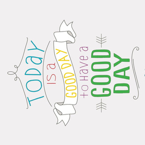 Good Day Calendar Tea Towel 2018