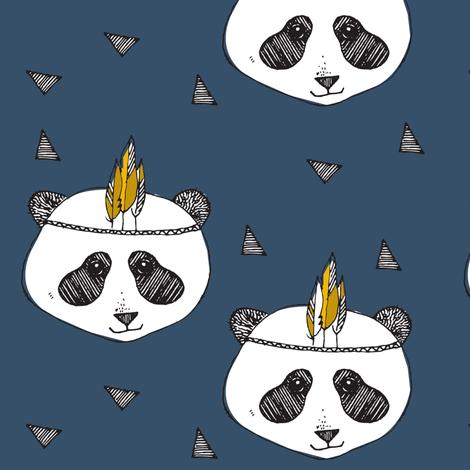 panda blue - elvelyckan fabric by elvelyckan on Spoonflower - custom fabric