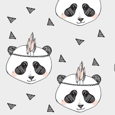 panda blush - elvelyckan fabric by elvelyckan on Spoonflower - custom fabric