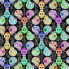 Sugar Skulls on Black
