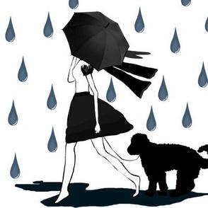 Puppy in the rain
