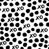 XOXO - Black and White Valentines Love design by Andrea Lauren