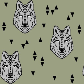 wolf // artichoke green kids boys boy room wolves wolf wolf man kids animals