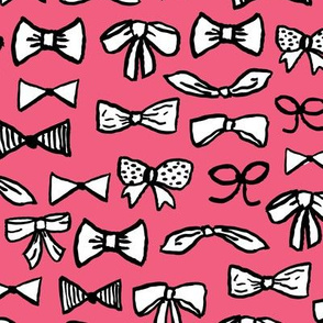 bows // girly fashion print for sweet little cute girls fashion beauty theme illustration pattern