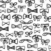 bows // black and white fashion girly black and white minimal print