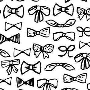 bows // black and white fashion girly black and white minimal print