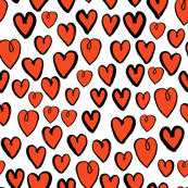 heart // hand-drawn red and white valentines love heart design