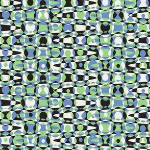 retro dots in 50s  hues