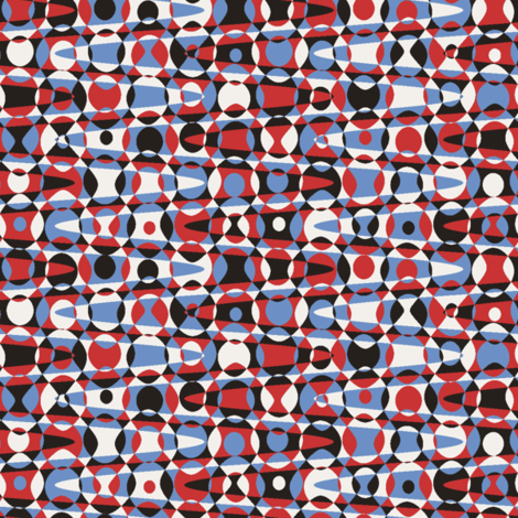 retro zigzag dots in 50s colors fabric by weavingmajor on Spoonflower - custom fabric