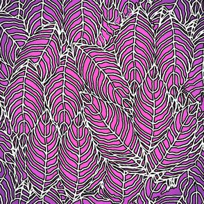 leaves_pink_purple