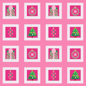 Pastel Christmas Squares