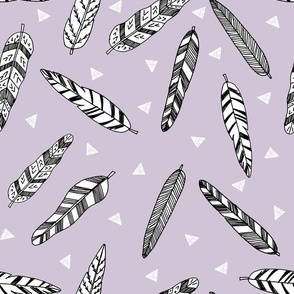 Inky Feathers - Lavender by Andrea Lauren