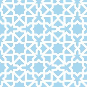Marrakesch xl turquoise-white