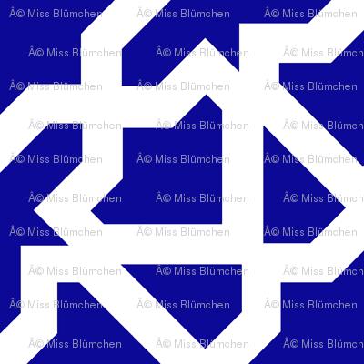 Marrakesch xl blue-white