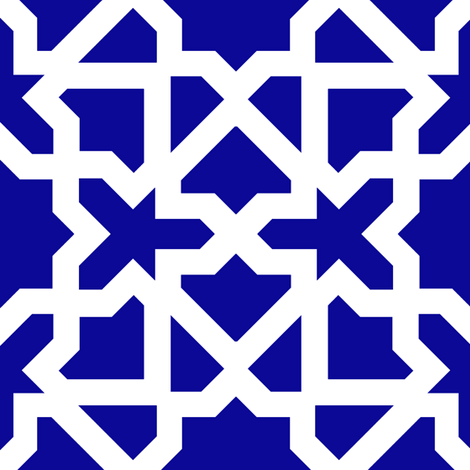 Marrakesch xl blue-white fabric by miss_blümchen on Spoonflower - custom fabric