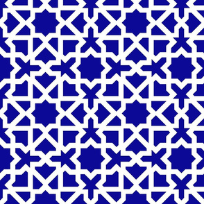 Marrakesch xl blue-white