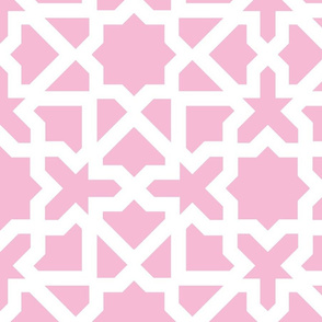 Marrakesch xxl pink-white