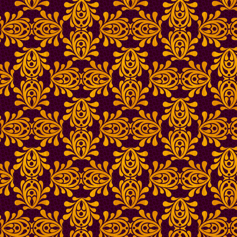 GOLDEN_VIOLET-DAMASK fabric by glimmericks on Spoonflower - custom fabric