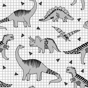 Dinos // Slate dinosaur prehistoric baby nursery baby boy grey