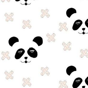 panda & crosses pink